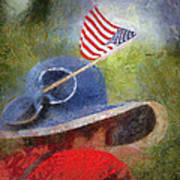 American Flag Photo Art 06 Art Print