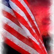 American Flag Photo Art 07 Art Print
