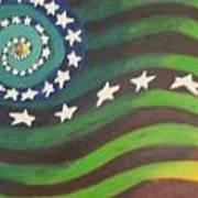 American Flag Reprise Art Print
