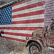 American Flag Route 66 Art Print