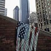American Flag Tattered Art Print