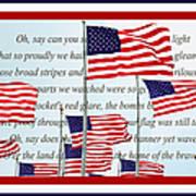 American Flag Tribute  Art Print