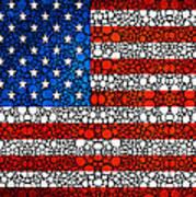 American Flag - Usa Stone Rock'd Art United States Of America Art Print