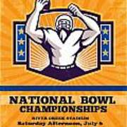 American Football National Bowl Poster Art Art Print by Aloysius Patrimonio