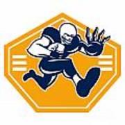 American Football Running Back Stiff Arm Art Print