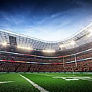 American Football Stadium Arena Vertical Art Print