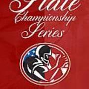 American Football State Championship Series Poster Art Print