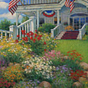 American Garden Art Print by Sharon Will