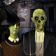 American Gothic Halloween Art Print