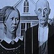 American Gothic In Colors Art Print