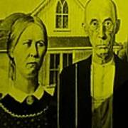 American Gothic In Yellow Art Print