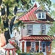 American Home With Children's Gazebo Print by Kip DeVore