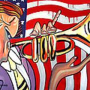 American Jazz Man Art Print