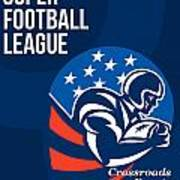 American National Super Football League Poster  Art Print