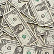 American One Dollar Bills Art Print