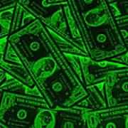 American One Dollar Bills Pop Art Art Print