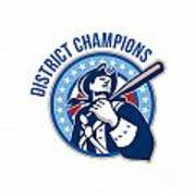 American Patriot Baseball District Champions Art Print by Aloysius Patrimonio