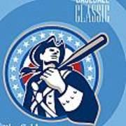 American Patriot Pro Baseball Classic Poster Retro Art Print