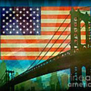 American Pride Art Print by Bedros Awak