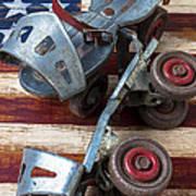 American Roller Skates Art Print