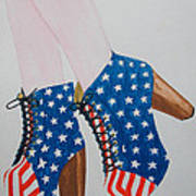American Style Art Print by Kim Lagerhem