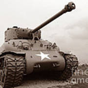 American Tank Art Print by Olivier Le Queinec