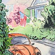 American Town Art Print