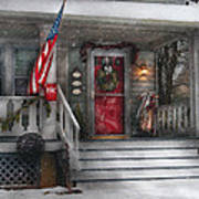 Americana - A Tribute To Rockwell - Westfield Nj Print by Mike Savad