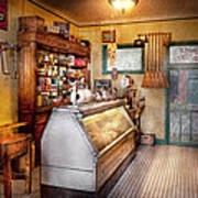 Americana - Store - At The Local Grocers Art Print
