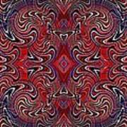 Americana Swirl Banner 1 Art Print