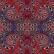 Americana Swirl Banner 3 Art Print