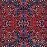 Americana Swirl Design 3 Art Print
