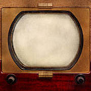 Americana - Tv - The Boob Tube Art Print by Mike Savad