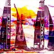 America's Cup Challenge Art Print