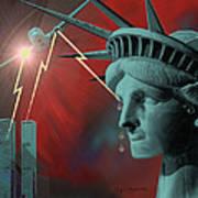 Americas Deepest  Wound  - 100 Art Print