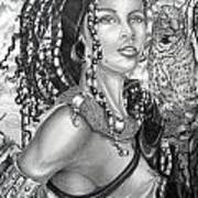 Amerikan Woman Art Print