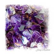 Amethyst Crystals 1. Elegant Knickknacks Art Print