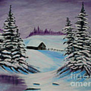Amethyst Evening After Ross Print by Barbara Griffin