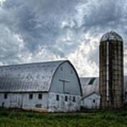 Amish Barn Art Print