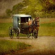 Amish Buggy Ride Art Print