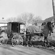 Amish Carriage, 1942 Art Print