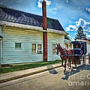 Amish Country Ride Art Print