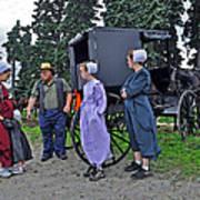 Amish Family Travelers Art Print