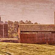 Amish Farm Art Print