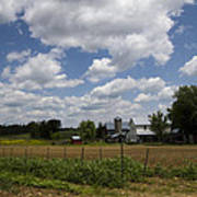 Amish Farm Landscape Art Print