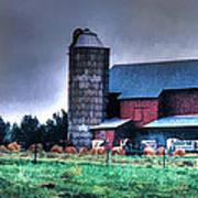 Amish Farming 2 Art Print