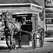 Amish Gas Art Print