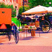 Amish Market. Art Print