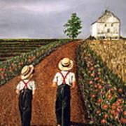 Amish Road Art Print by Linda Simon