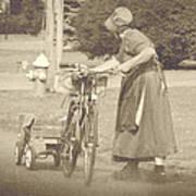 Amish Times Art Print
